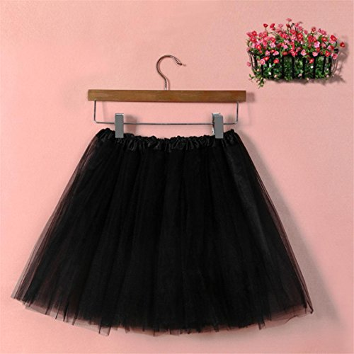 Hot Sale Tutu Dress Mesh Gauze High TIFENNY Black mesh Skirt Womens Solid Waist Adult Pleated Half Dancing rAwRrTqd