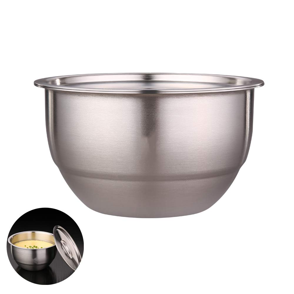 NOBGP 5 Piece 304 Stainless Steel Mixing Bowl Set with Lids Nesting Bowl Stackable Storage Refrigerator Kitchen Food Storage Organizers for Cooking Baking Salad