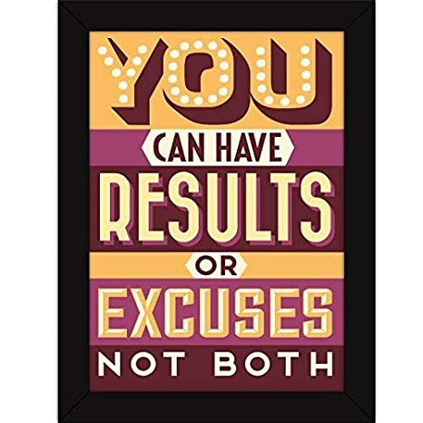 Fatmug 'Motivational Quote' Poster (Synthetic, 32.99 cm x 24.99 cm x 0.99 cm, Multicolour) Posters at amazon