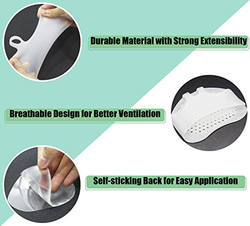 Metatarsal Pads for Women & Men Metatarsalgia Insoles Ball of Foot Silicone Cushions Soft Gel Foot Care for Heels Foot Pain Relief (6-Piece) by KRSUMOD (Image #1)