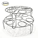 Quick & Carry, Stackable Egg Rack for''Instant Pot'' Pressure Cookers, Stainless Steel, 2 Piece Set