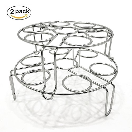 Quick & Carry, Stackable Egg Rack for''Instant Pot'' Pressure Cookers, Stainless Steel, 2 Piece Set by 231