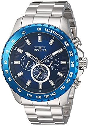 Invicta Men's 'Speedway' Quartz Stainless Steel Casual Watch, Color:Silver-Toned (Model: 24212)
