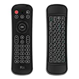 Rii MX6 Wireless Keyboard and Remote Control with Microphone,Air Mouse, LED Backlit