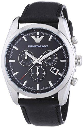 Emporio Armani Men s AR6039 Sport Black Leather Watch