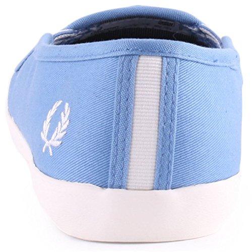 Fred Perry Bell Slip On Twill Femme Baskets Mode Bleu