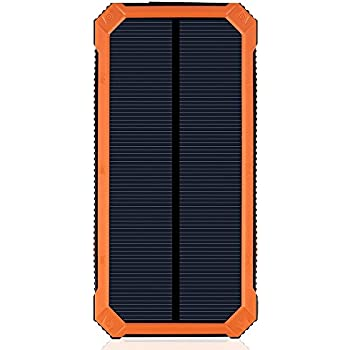 Amazon Com Solar Charger With 6led Flashlight 15000mah