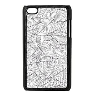 Overlapping Line Triangles Pattern iPod Touch 4 Case Black Protect your phone BVS_549862