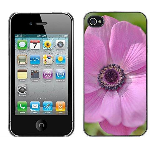 Premio Sottile Slim Cassa Custodia Case Cover Shell // F00004886 une fleur // Apple iPhone 4 4S 4G