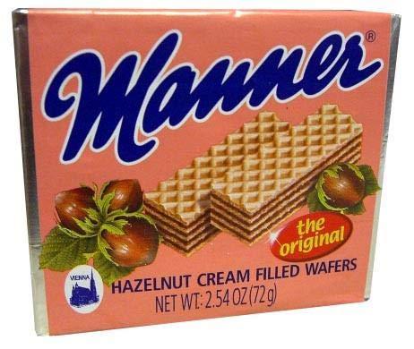 - Hazelnut Cream Filled Wafers (Manner) 72g
