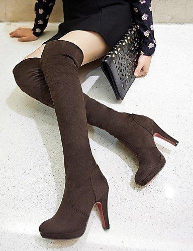 Sintético Eu42 5 Eu37 A us6 Moda Brown Ante us10 Tacón Mujer Redonda Xzz Negro Casual Rojo 5 Vestido 7 Uk4 La Uk8 Red Cn43 Marrón Botas De Punta Cn37 5 Zapatos Stiletto 5 5 Rq86C1w