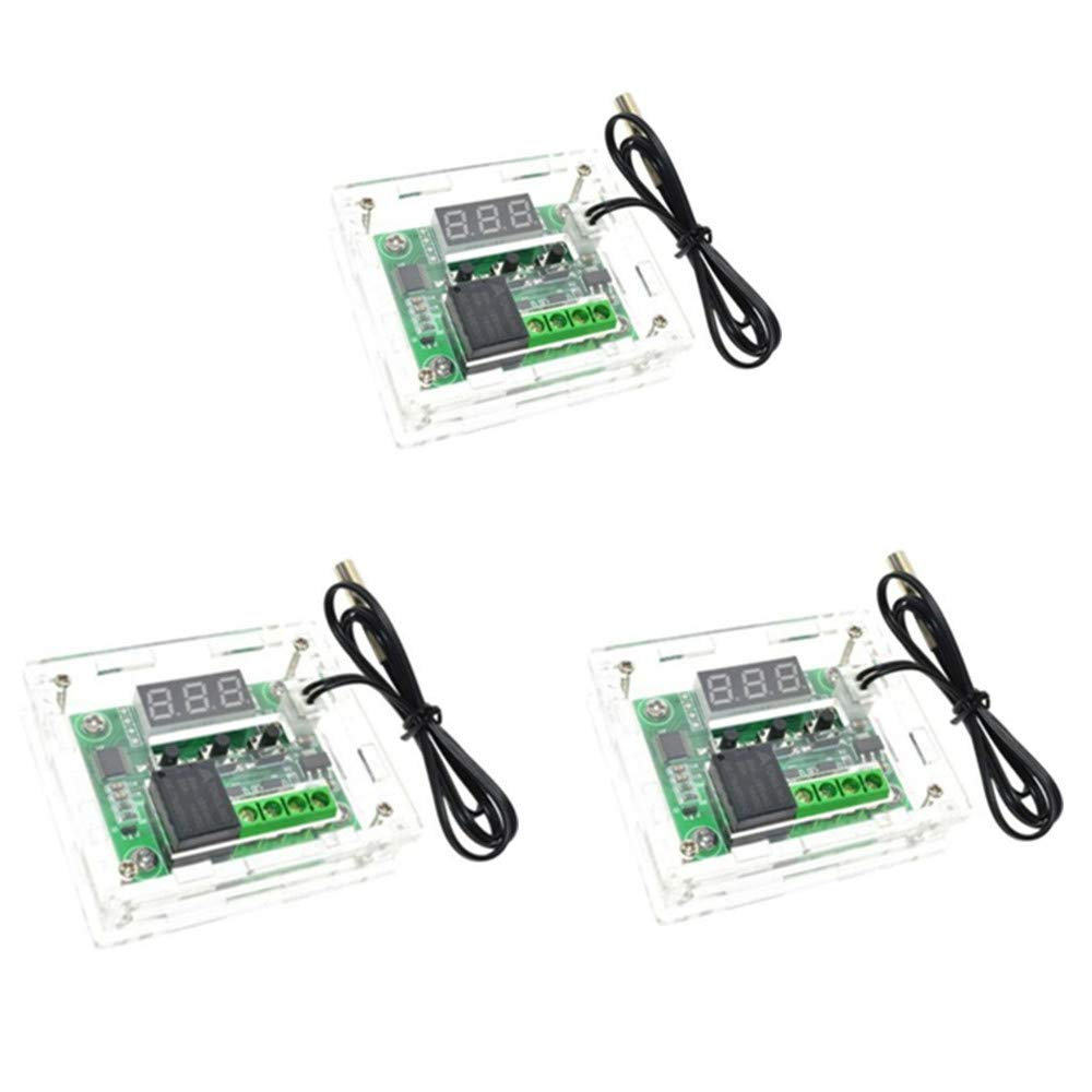 FASTROHY 3PCS W1209 12V Digital Thermostat Temperature Thermo Controller Switch Module with Case