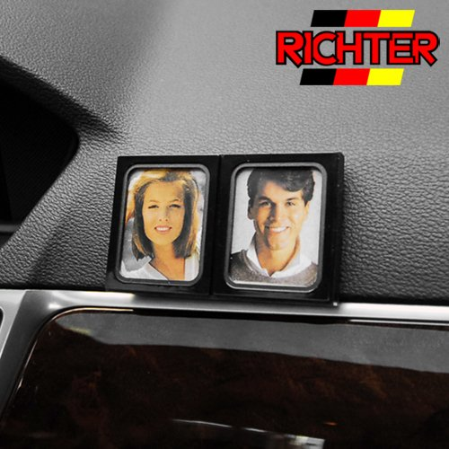 Richter 13300 SK Automotive Car Dash Mount Couples Photo Holder Black Frame Twins Double ()