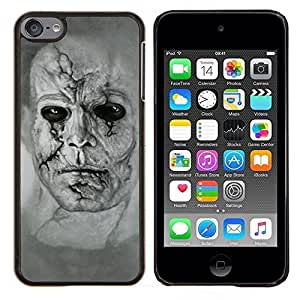 "Be-Star Único Patrón Plástico Duro Fundas Cover Cubre Hard Case Cover Para iPod Touch 6 ( Zombie Art Dibujo Retrato Hombre cara llena de cicatrices"" )"