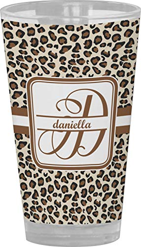 Leopard Print Drinking/Pint Glass (Personalized) from RNK Shops