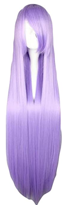 SMILE 100cm Long Gin Tama-Sarutobi Ayame Long Purple wig