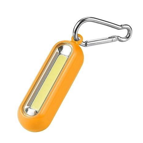 LEEDY - Llavero con mosquetón y Linterna LED COB para ...