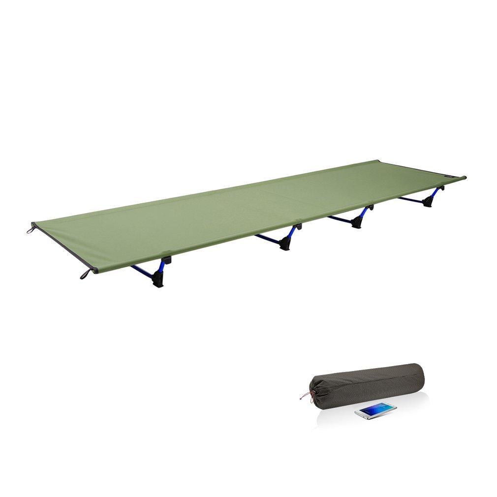 TIKAHOME Campingbett Feldbett 60  200 Ultraleicht Camp Bett 200KG Bearing Atmungsaktive Wasserdichte Bettob