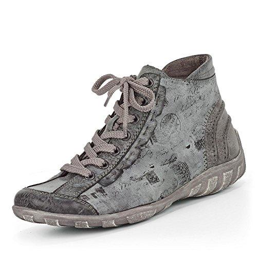 Remonte R3452-45 - Zapatillas de Piel para mujer gris