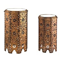 Sterling Industries Moroccan 17 Inch Octagon Side Table (Set of 2)