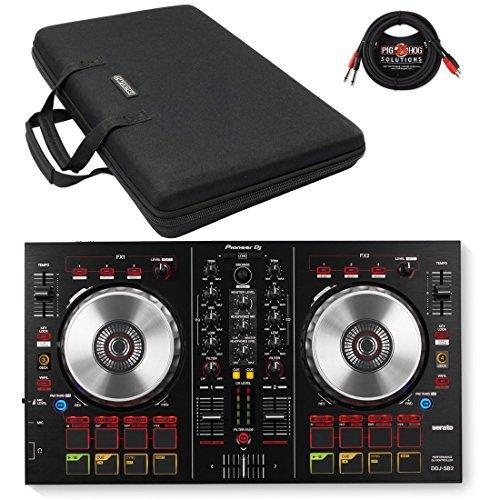 Pioneer DDJ-SB2 DJ Controller & Magma MGA47989 Control-Case XL w/ Pig Hog (Control Pioneer Dj)