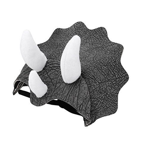 Yeefant Adjustable Buckle and Rubber Band Design Pet Dinosaur Headgear Hat Dog Adjustable Buckle Costume Festival Cosplay,7.9 x 5.9 x 2 Inch,Gray]()
