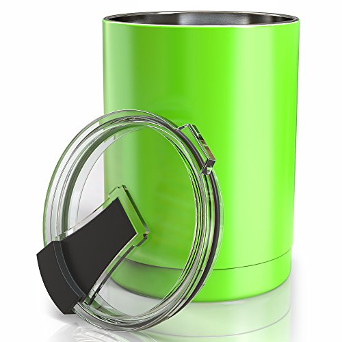 #1 Lowball - Vacuum Insulated Stainless Steel 10 oz Tumbler - Apple (10 Ounce Green Apple)
