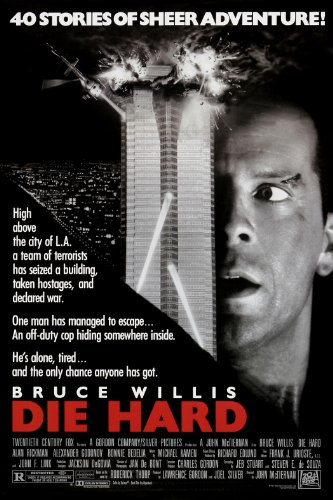Die Hard (1988) Movie Poster Bruce Willis 24x36 (Bruce Willis Poster)
