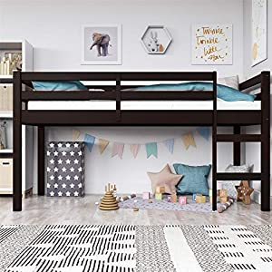 Dorel Living Milton Loft Bed, Twin, Espresso 14