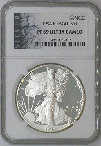 1994 P American Eagle $1 PF69 NGC PF