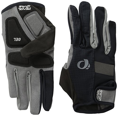Pearl iZUMi Ride Men's Elite Gel Full Finger Gloves, Black, ()