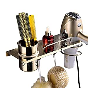 LIMING 304 Acero Inoxidable secador de Pelo Estante de Tubo de Aire Estante Accesorios de baño para barbería habitación de Hotel de Ducha, etc.