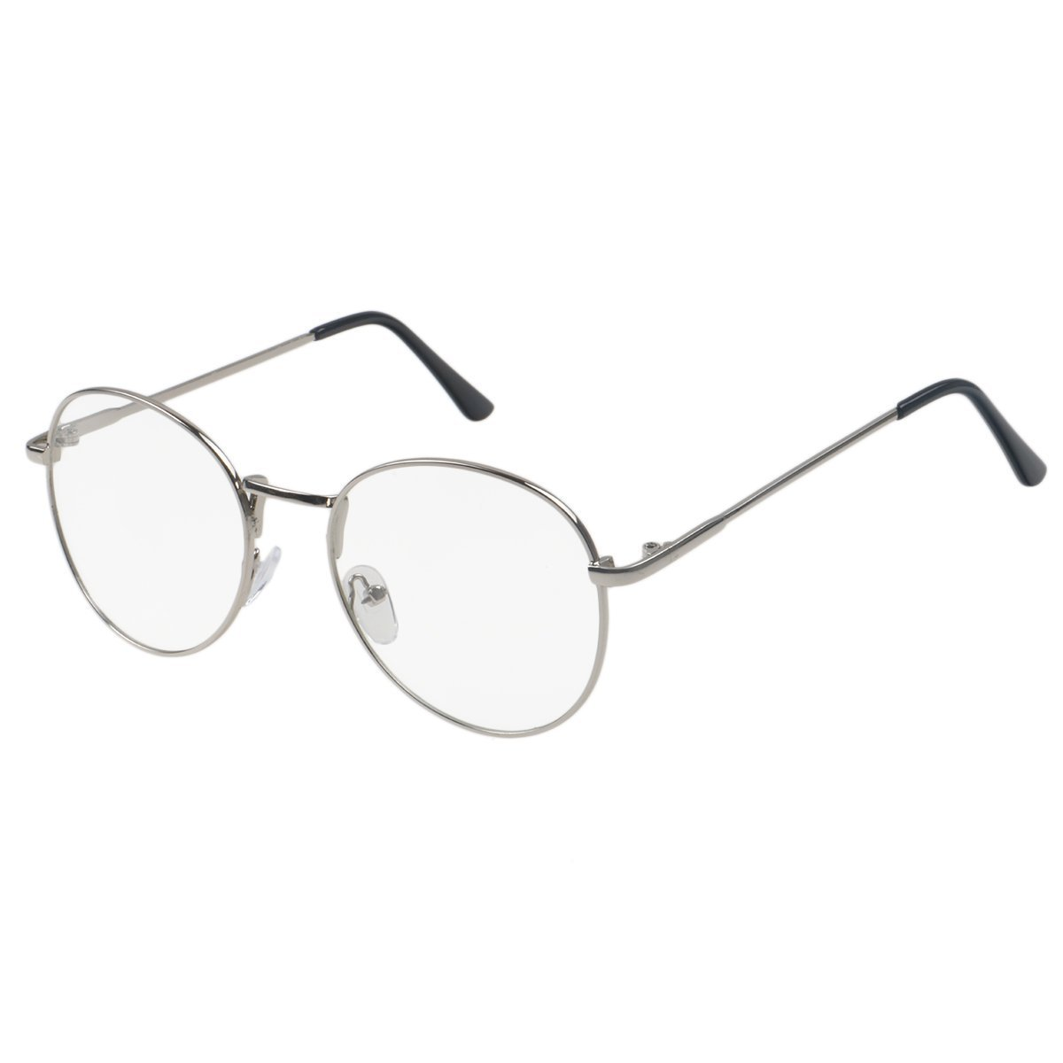 443086ce166 Simvey Retro Round Oversized Prescription Metal Eyeglasses Frame Clear Lens  Glasses product image