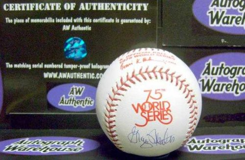 Graig Nettles autographed World Series Baseball (1978 New York Yankees) AW Hologram Certificate of Authenticity with free display cube