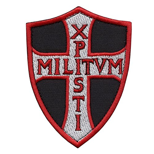 (LEGEEON Knights Templar Chi Rho Xpisti Militvm Soldiers of Christ Crusader Cross Tactical Morale Sew Iron on Patch)