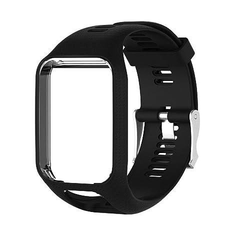 ZHONGYU pour Bracelet de Montre GPS Tom Tom Spark / 3 Sport, Bracelet en Silicone Compatible avec Tomtom Runner 2/3 Series: Amazon.fr: Sports et Loisirs