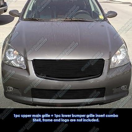 Fits 05 06 Nissan Altima Ser Black Billet Grille Grill Combo Insert N81110h