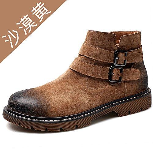 HL-PYL - Neue Martin Stiefel Männer Männer Männer die alte Art und Weise zu helfen und Freizeit Stiefel 40 Wüste Gelb zu helfen 0cc941