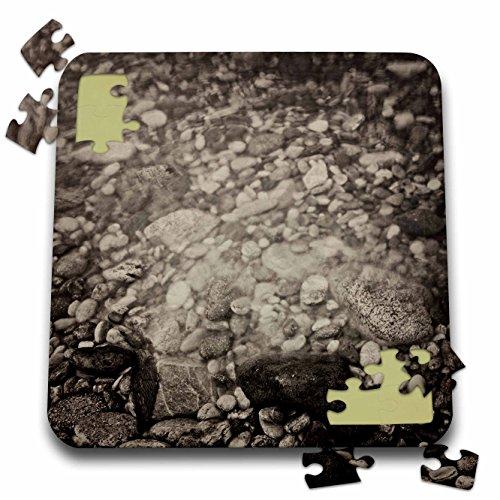 KIKE CALVO Patagonia ISLA DE LOS ESTADOS - Sepia Stones, Staten Island, Tierra de Fuego - 10x10 Inch Puzzle (pzl_233849_2) (Tierra Stone)