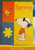 SNOOPY PEANUTS JOE COOL SPRING WOODSTOCK HOUSE FLAG 28 X 40""
