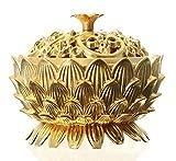 DD&DEE Incense Burner Lotus Flower Classical Tibetan Alloy Mini Sandalwood Censer