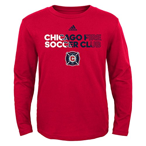 fan products of MLS Chicago Fire Boys -Short sleeve Striker Tee, Red, Large (7)