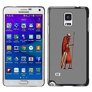 Caucho caso de Shell duro de la cubierta de accesorios de protección BY RAYDREAMMM - Samsung Galaxy Note 4 SM-N910 - African Man Masai Bushman 3D