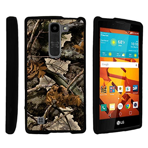 TurtleArmor | LG Volt 2 Case | LG Magna Case | LG G4 Mini Case [Slim Duo] Two Piece Hard Cover Slim Snap On Case on Black - Tree Leaves Camouflage
