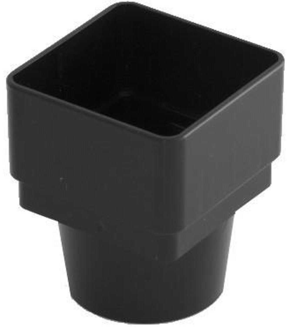 RWSD2BL Black Marshall Tufflex Downpipe Adaptor 65mm Square to 68mm Round