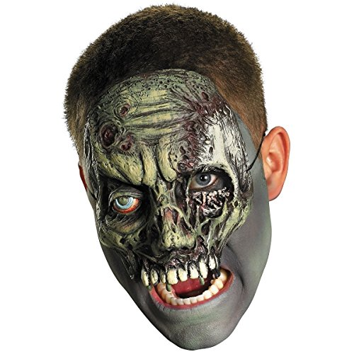 Chinless Walking Zombie Vinyl Mask Costume (Hot Zombie Costume Ideas)