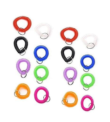 20 llaveros de plástico de Colores Surtidos para la muñeca ...