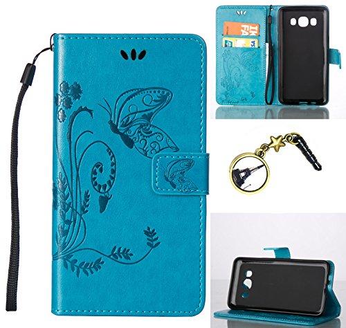 Silikon Schutz hülle für (Samsung Galaxy J1 (2016) SM-J120F ) Soft PU Handyhülle Painted Pattern Hülle Handy Case Dünne Tasche Cover Schutzhülle Schale Tasche Lederhülle mit (+Eiffelturm Staubstecker )#U (7)