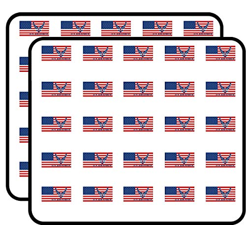 USA Flag with AIR Force Logo (Military USAF) Sticker for Scrapbooking, Calendars, Arts, Kids DIY Crafts, Album, Bullet Journals ()