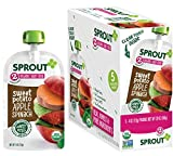 Sprout Organic Baby Food Pouches Stage 2 Sprout Baby Food, Sweet Potato Apple Spinach, 4 Ounce (Pack of 5); USDA Organic, Non-GMO, Made with Whole Foods, No Preservatives, Nothing Artificial